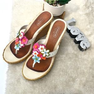 Coach | Jessica Floral Wedge Sandals Size 10M